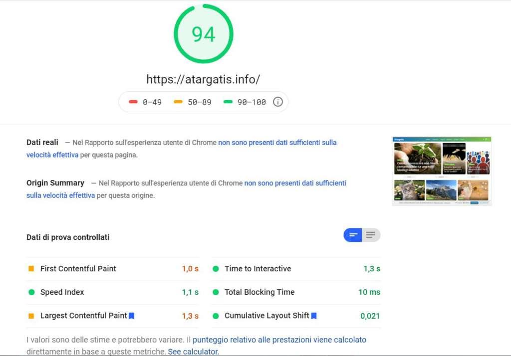 Atargatis.info Google Speed